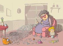Grandma Crochet Maze Game