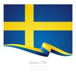 Swedish flag ribbon background vector