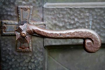 maniglia di una porta antica