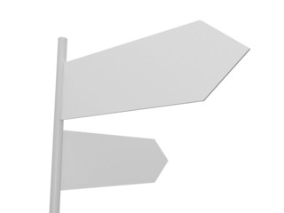 Blank Crossroad Signs