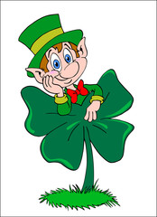 Leprechaun Four Leaf Clover