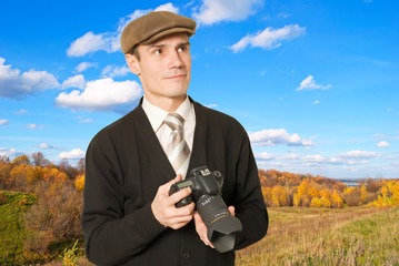 Photographer for shooting landscapes.