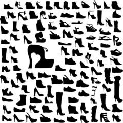 Colección siluetas zapatos