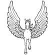 Pegasus Vektor Silhouette