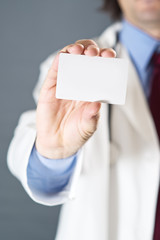 Doctor with business card