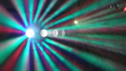 Lights at a nightclub