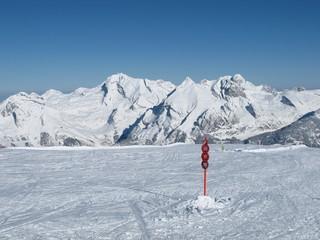 Ski area Toggenburg, view of Mt  Saentis