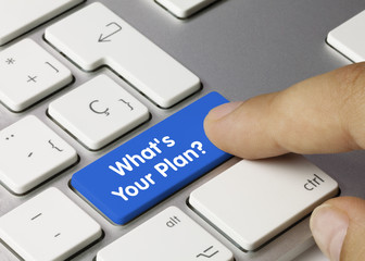 What's your Plan keyboard key. Finger