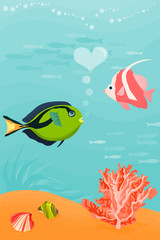Picture of a two fishes ( wallpaper for mobile phone)