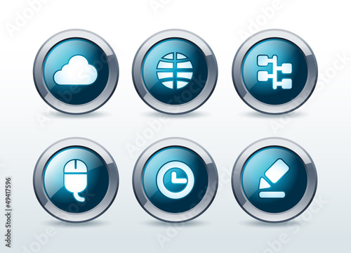 Web button icon set vector illustration