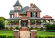 Victorian House on White - 49420324