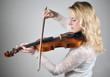 Zartes Geigenspiel