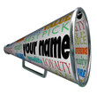 Your Name Bullhorn Megaphone Advertising Brand