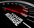 Your Message Speedometer Racing Win Words