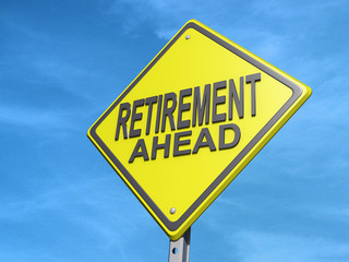 Retirement Ahead Yield Sign