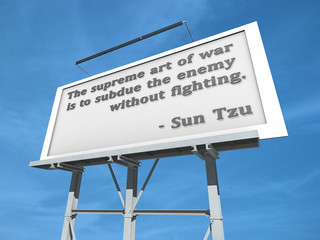 Billboard Sun Tzu The Supreme Art.
