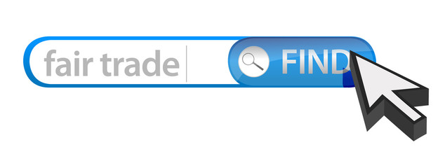 search bar containing a fair trade concept