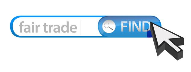 search bar containing a fair trade concept