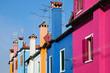 bunte Hausfassaden in Burano bei Venedig