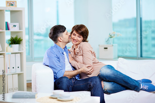 Couple on sofa