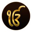 Ek Onkar - Golden symbol in dark background
