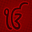 Ek Onkar - Red halftone background
