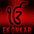 Ek Onkar - Red Black Burst