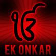 Ek Onkar - Red Black Burst