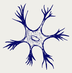 Illustration neuron. Doodle style