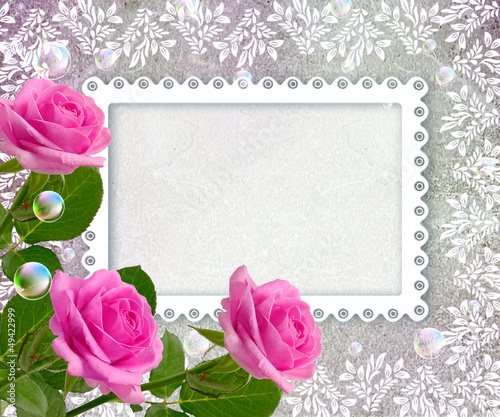 Roses and openwork frame