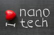 I love nanotech phrase handwritten on the school blackboard