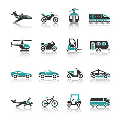 Set of transport icons - Two