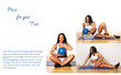 Fit woman poses in a different ways