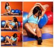 Fitness instructor is posing in studio