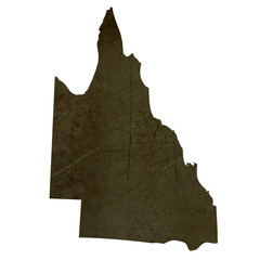 Dark silhouetted map of Queensland