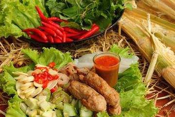 Food Vietnam With fresh vegetables