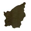 Dark silhouetted map of San Marino