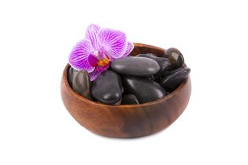piedras de la sauna negras