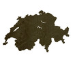 Dark silhouetted map of Switzerland