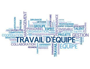 """Nuage de Tags """"TRAVAIL D'EQUIPE"""" (esprit équipe management)"""