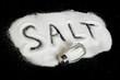 Word Salt on black background