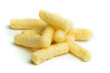 Corn snacks white isolated