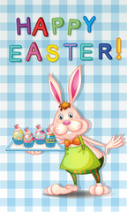 An easter greeting with a bunny