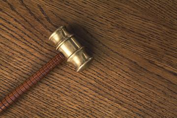 gavel on wood