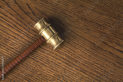 gavel on wood