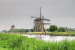 Dutch mills, in Kinderdijk, Holland