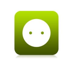 Prise électrique verte carré