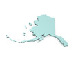 Alaska 3d map