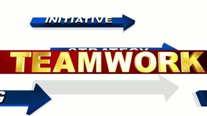 TEAMWORK - animated motivation words