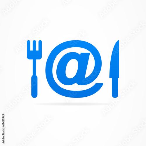 Internet kitchen business sign